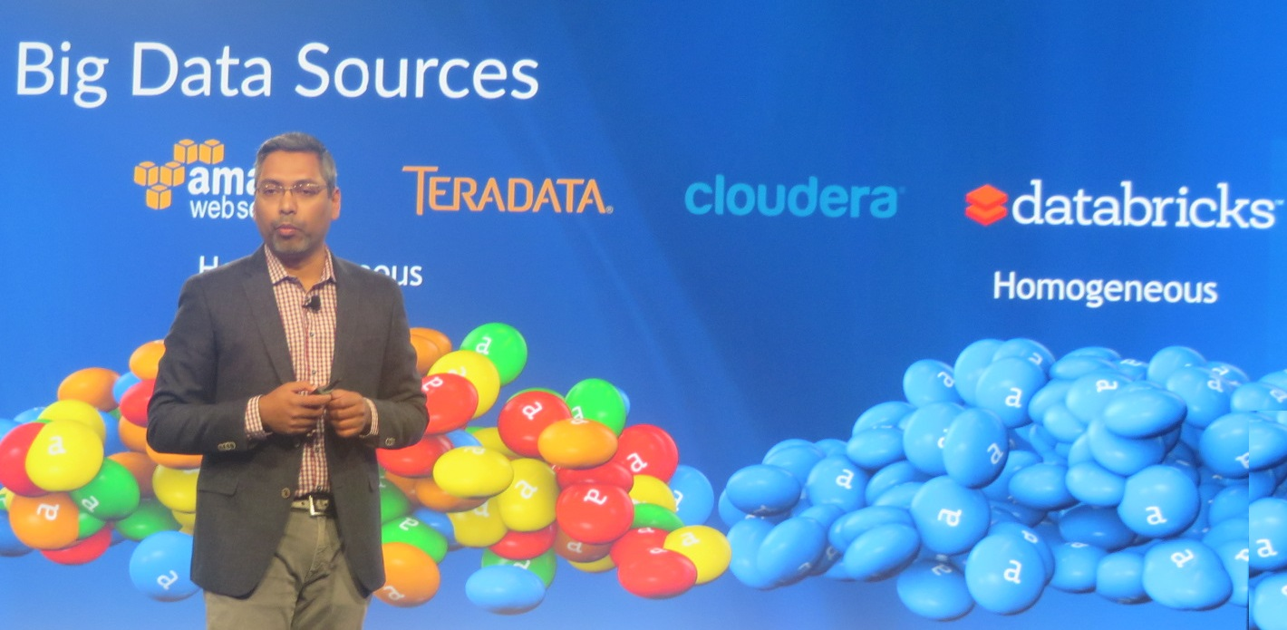 Alteryx President and COO George Mathew highlights coming in-database and big-data platform connections at Inspire15.