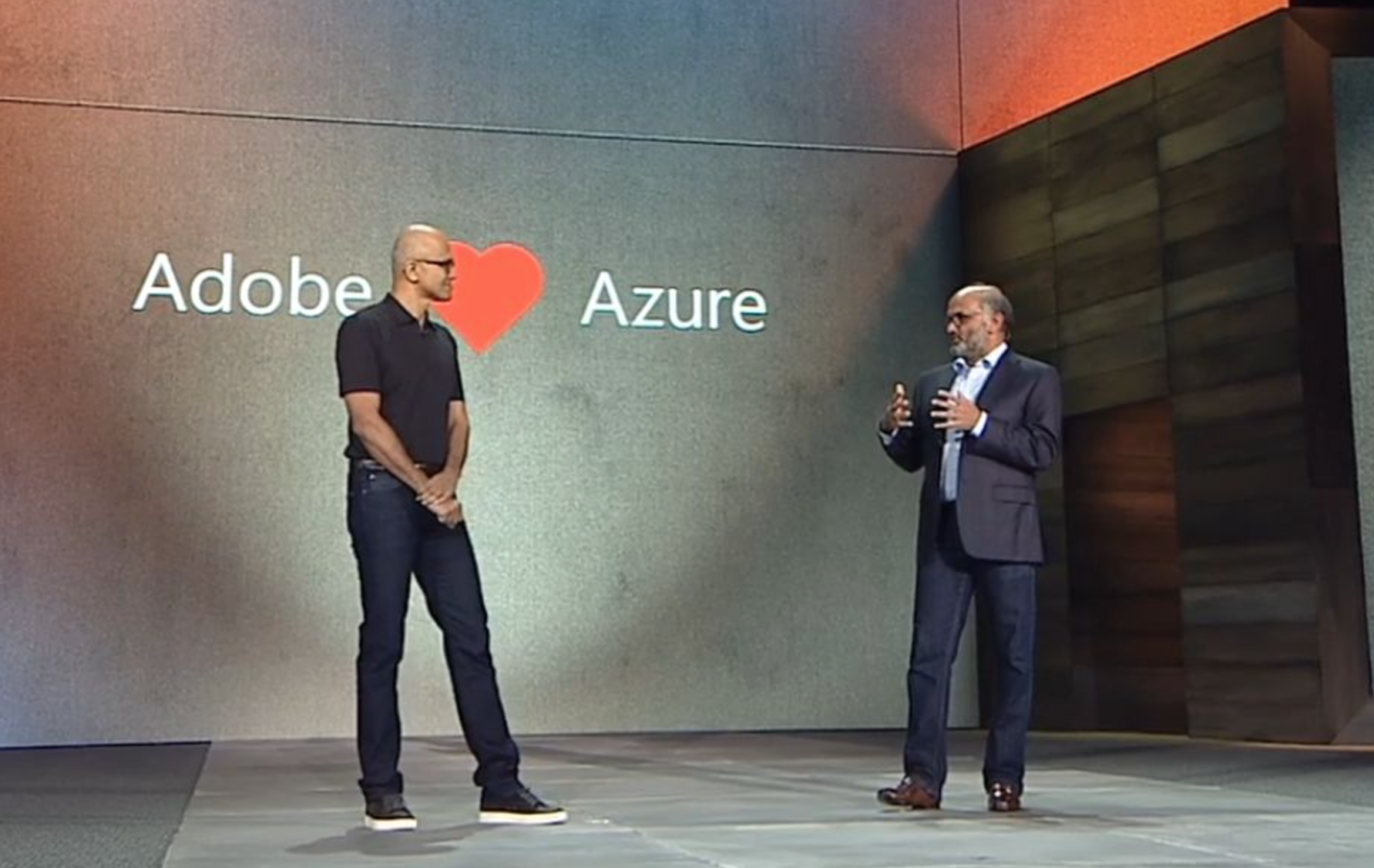 Satya Nadella Adobe Partnership at Microsoft Ignite