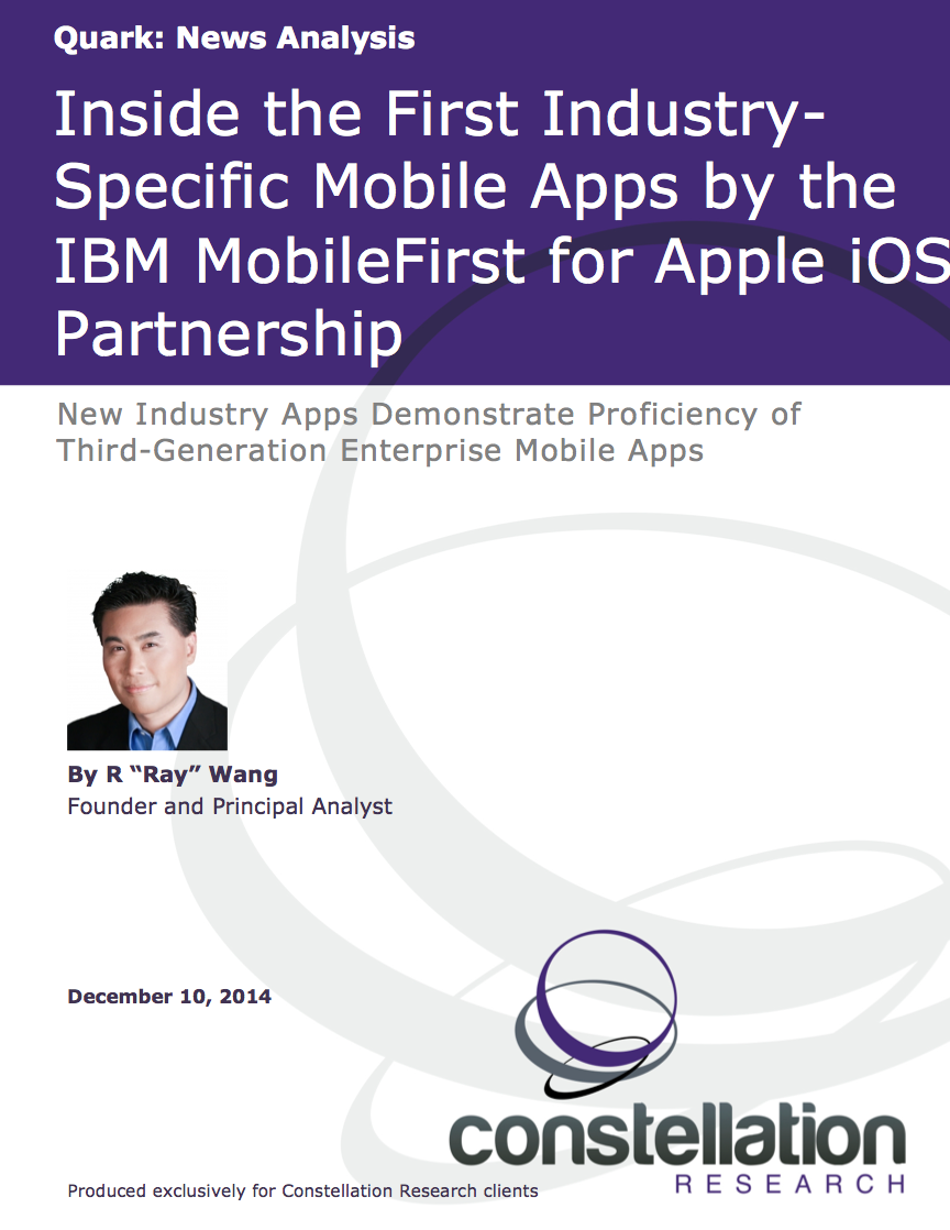 Apple IBM mobility partnership report