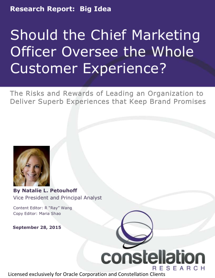 CMO Responsible for Customer Experience