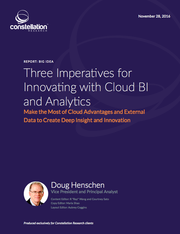 Three Imperatives for Innovating with Cloud BI and Analytics