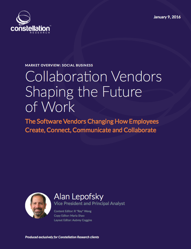 Collaboration Vendors Shaping the Future of Work | Social Business Market Overview