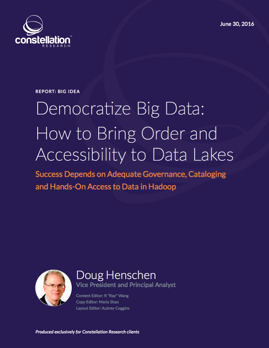 Democratize Big Data: How to Bring Order and Accessibility to Data Lakes