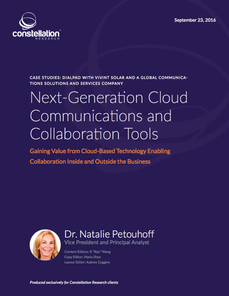 Next Generation Cloud Communications and Collaboration Tools