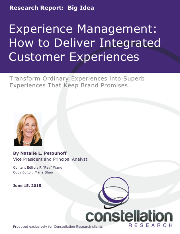 Experience Management How to Deliver Integrated Customer Experiences
