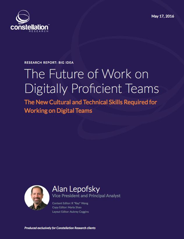Future of Work on Digitally Proficient Teams