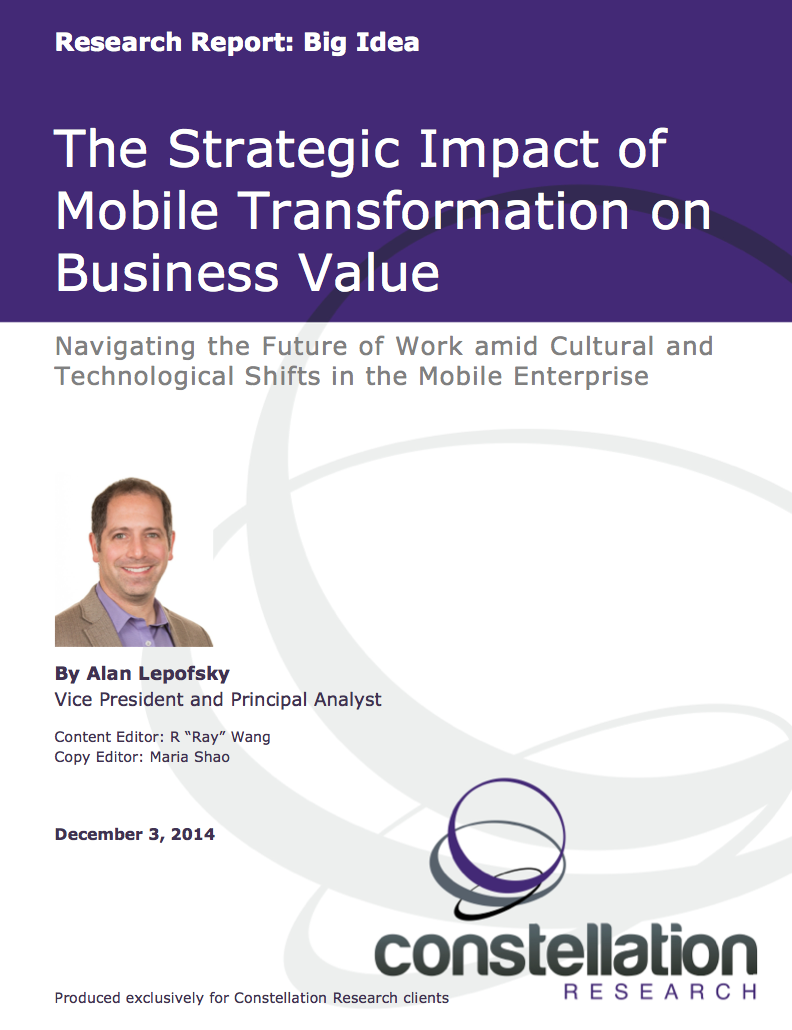 Strategic Impact of Mobile Transformation on Business Value cover