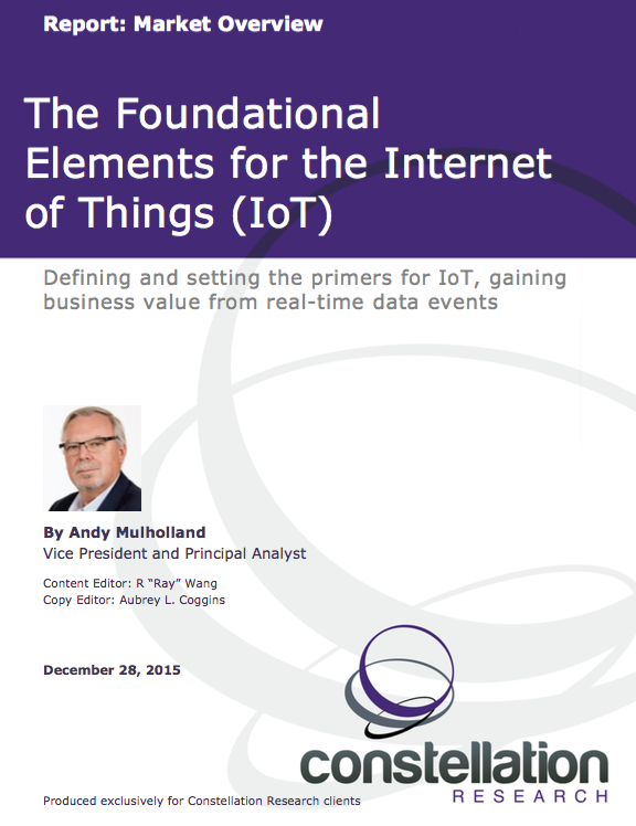 Foundational Elements for the Internet of Things (IoT)