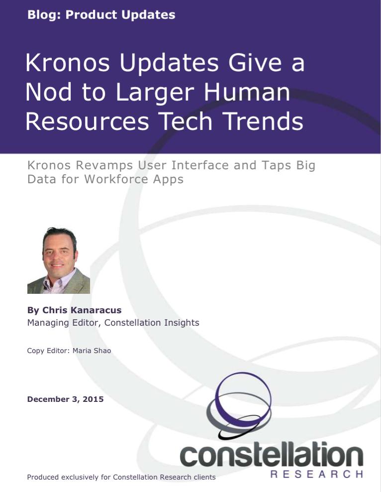 Kronos Workforce Ready Update