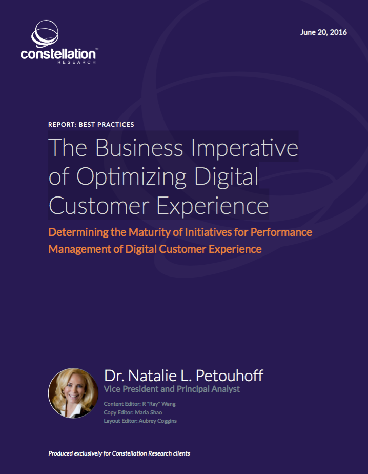 The Business Imperative of Optimized Digital Customer Experience