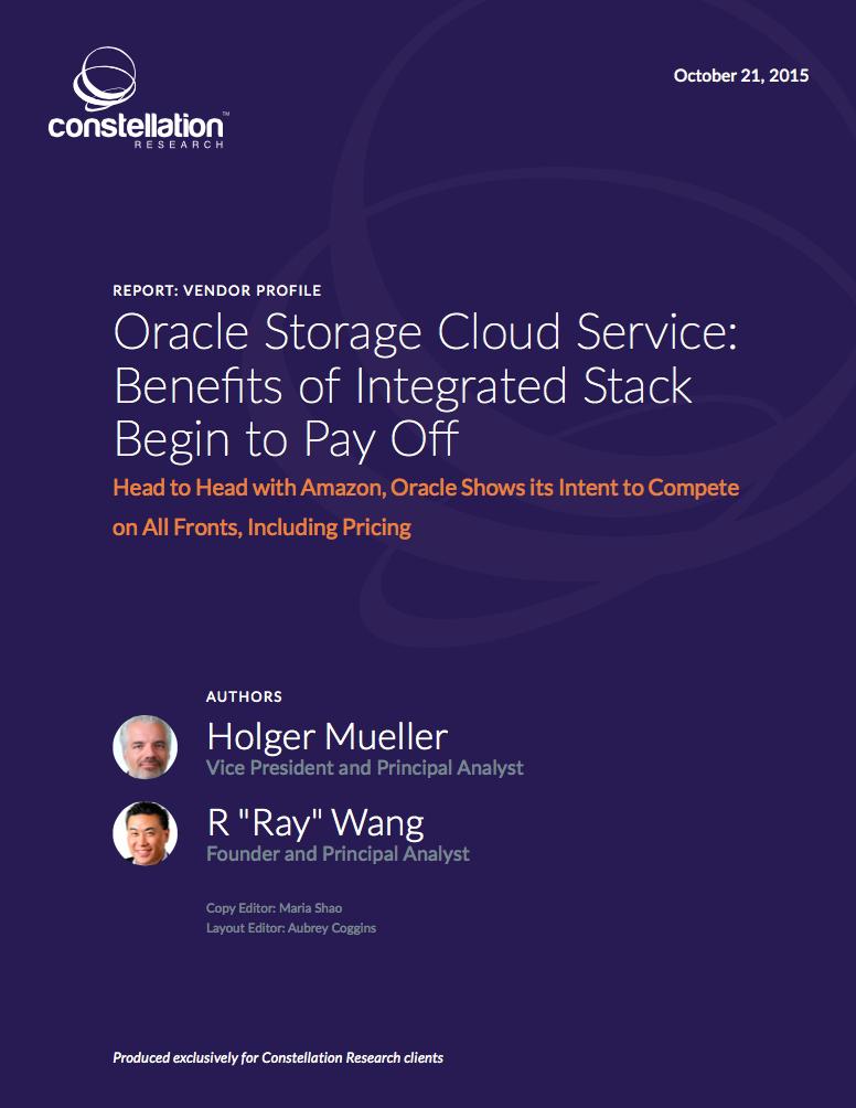 Oracle Storage Cloud Profile