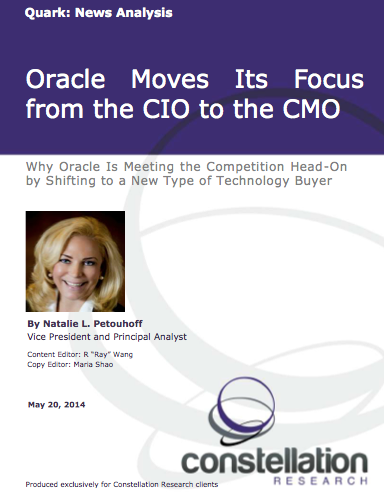 Oracle Focus CMO Report Cover