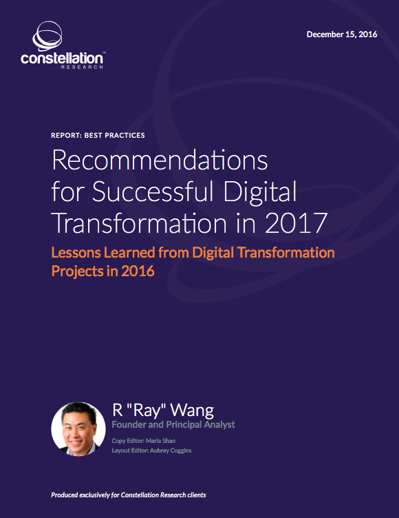 Recommendations for Successful Digital Transformation in 2017