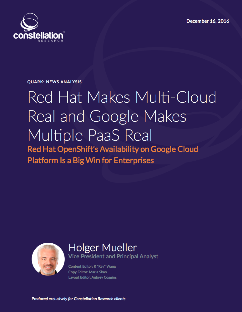 Red Hat Makes Multi-Cloud Real and Google Makes Multiple PaaS Real