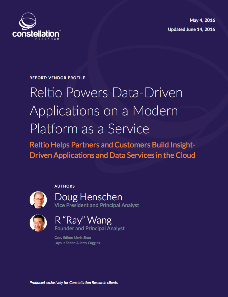 Reltio Profile and Buyer's Guide