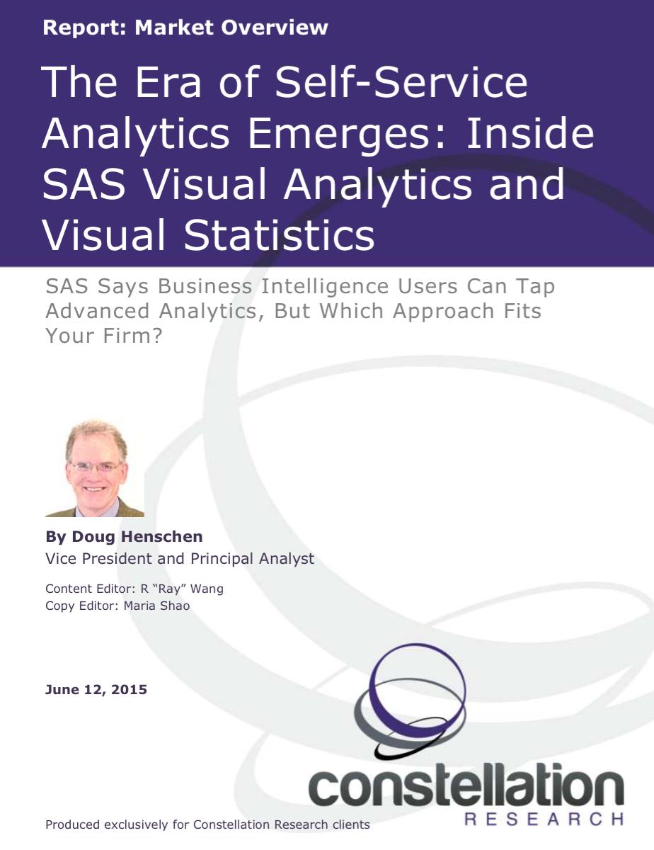 SAS Visual Analytics and Visual Statistics Market Overview