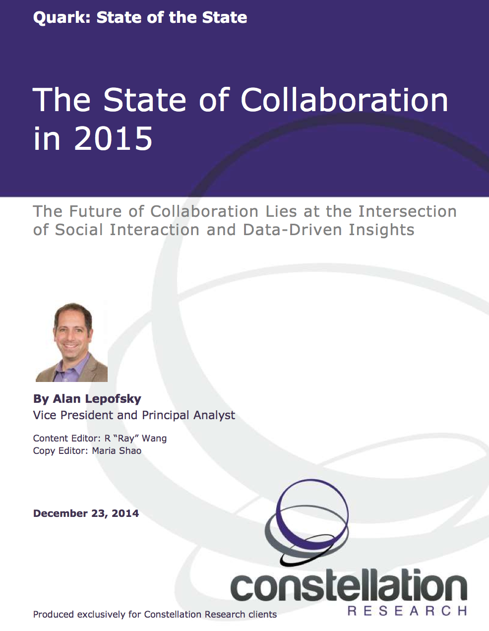 State of Collaboration in 2015