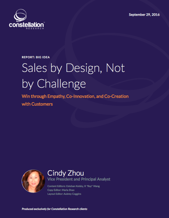 Sales by Design not By Challenge
