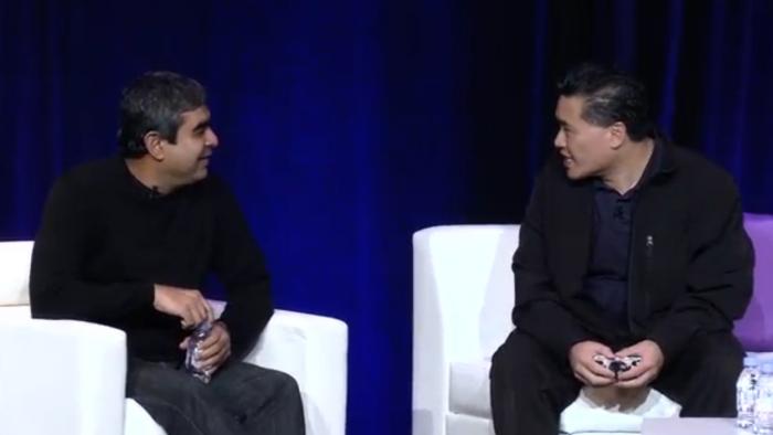 Ray Wang and Vishal Sikka at Constellation's Connected Enterprise