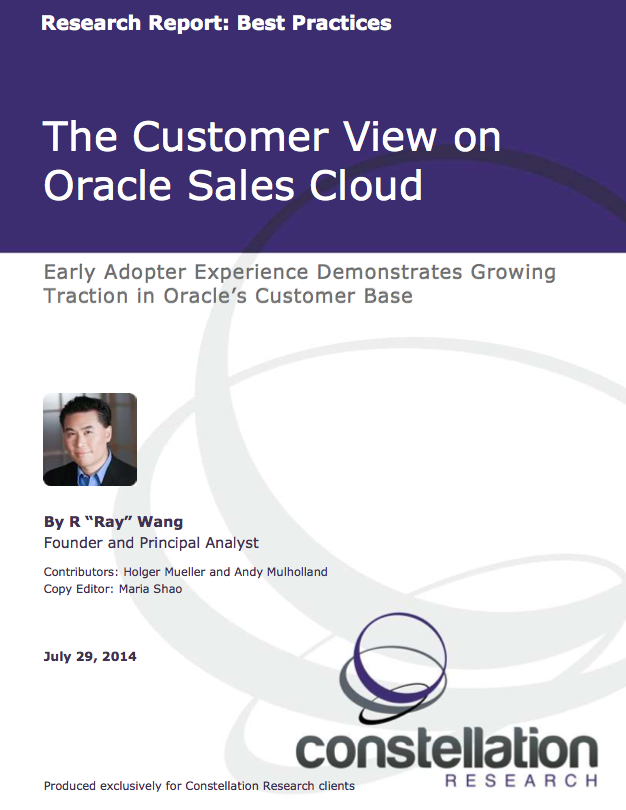 The Customer view on Oracle Sales Cloud