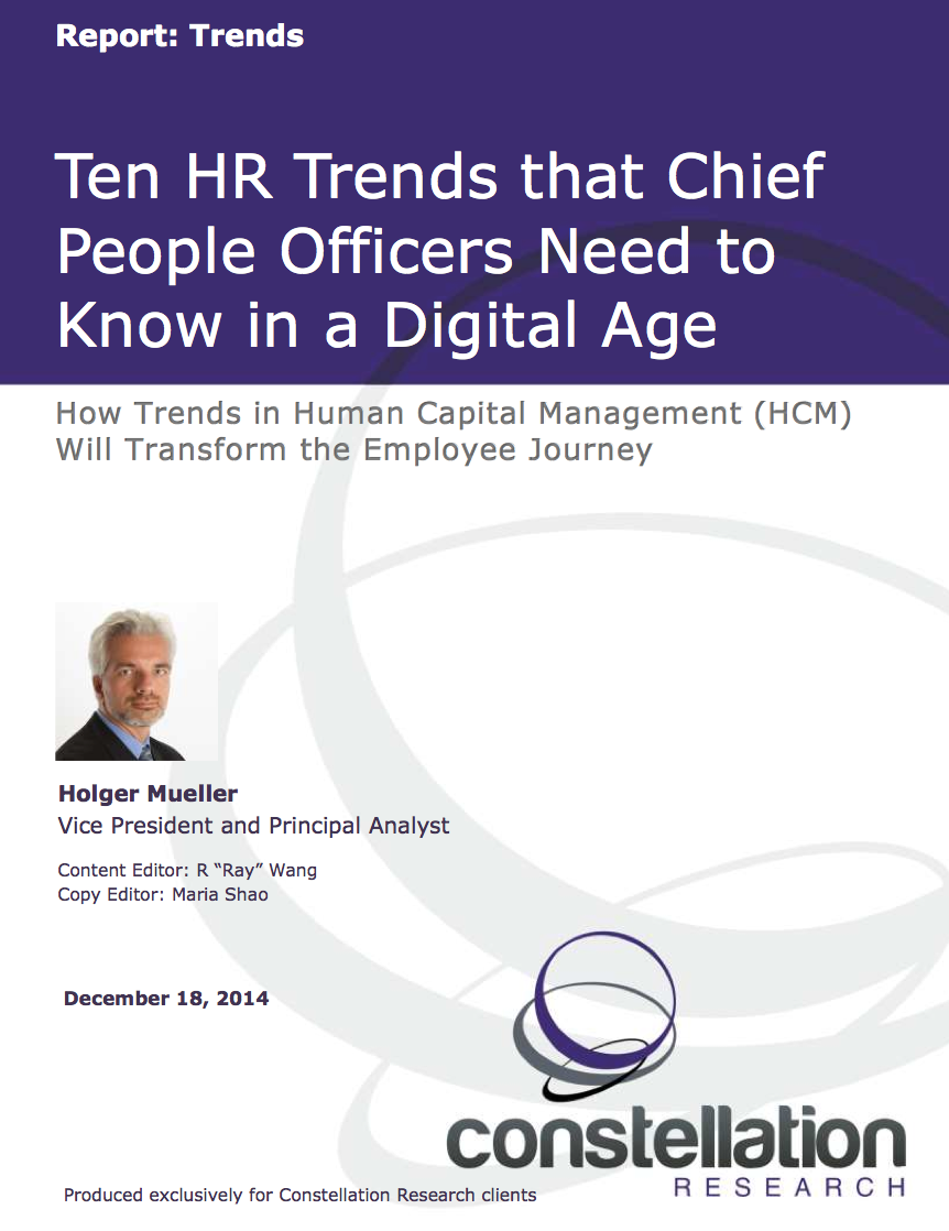 HR Trends HCM Constellation Research