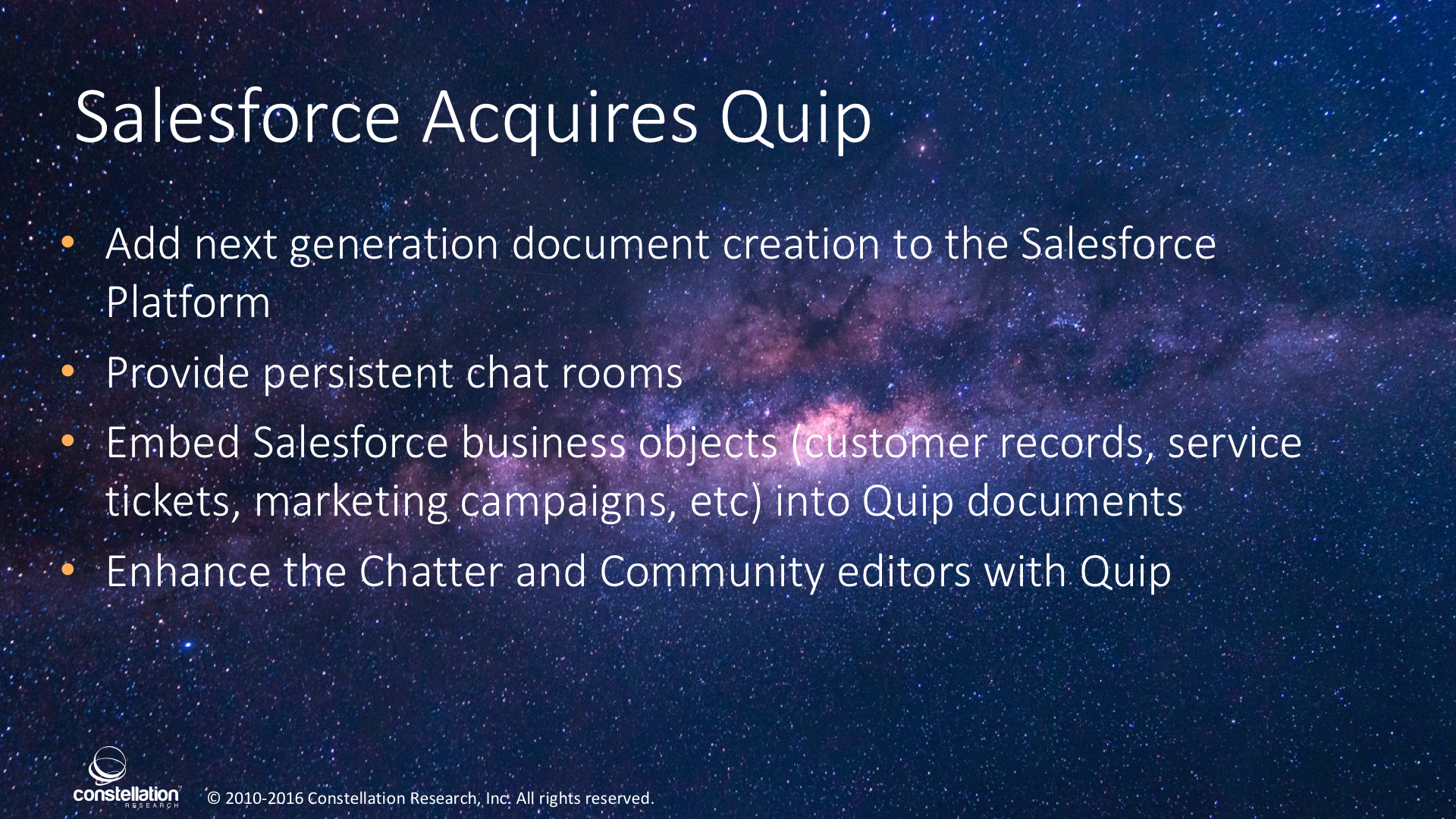 In The Next Version - Salesforce Acquires Quip: Document