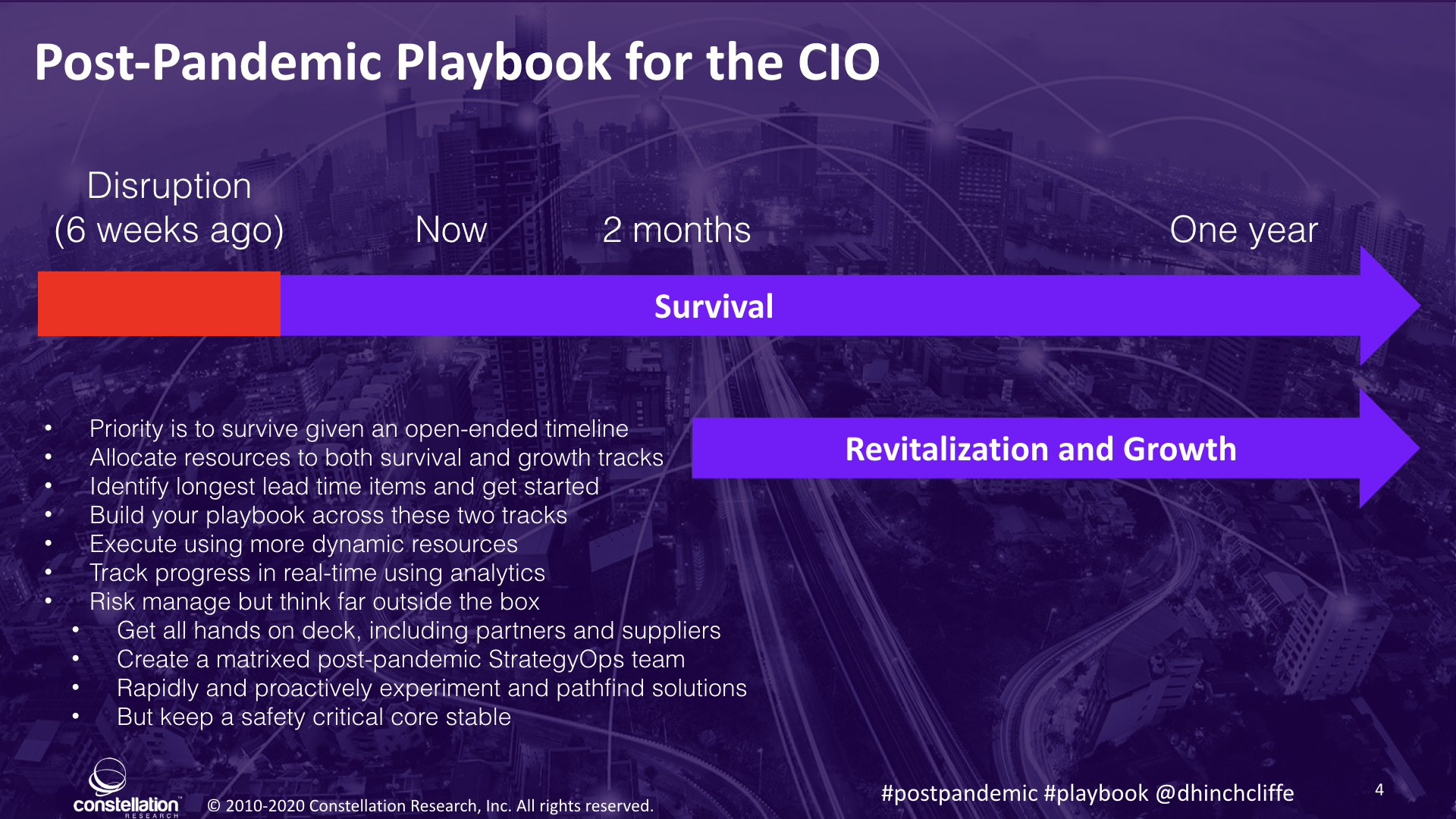 The CIO Must Divide Time Between Survive and Thrive During and Post-Pandemic