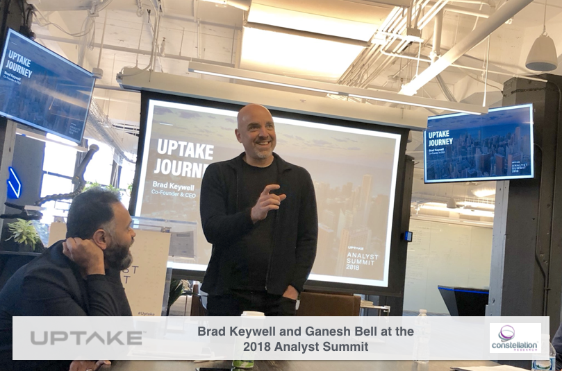 Uptake CEO and Co-Founder Brad Keywell and President Ganesh Bell at the Uptake Analyst Summit 2018
