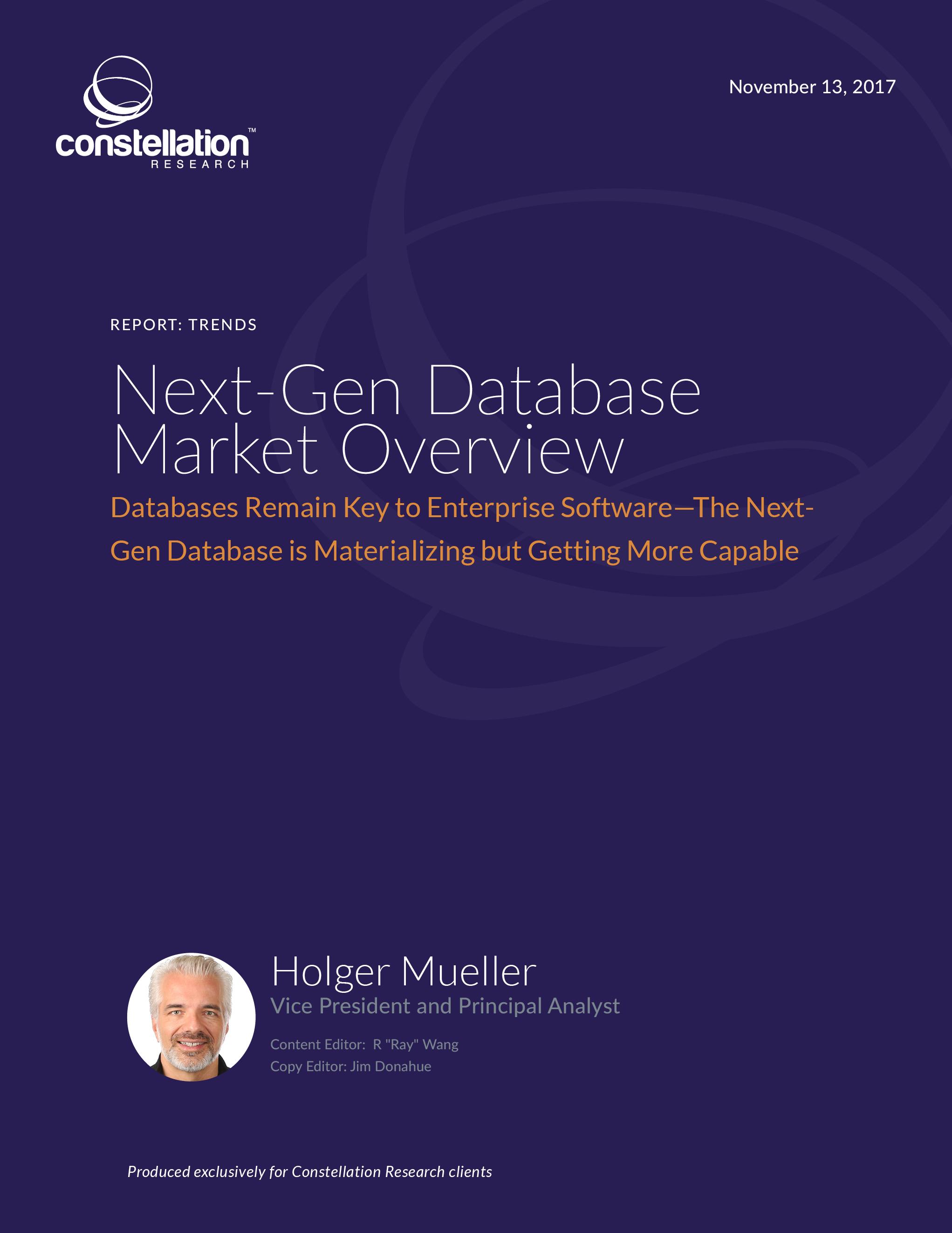 Next Gen Database Market Overview