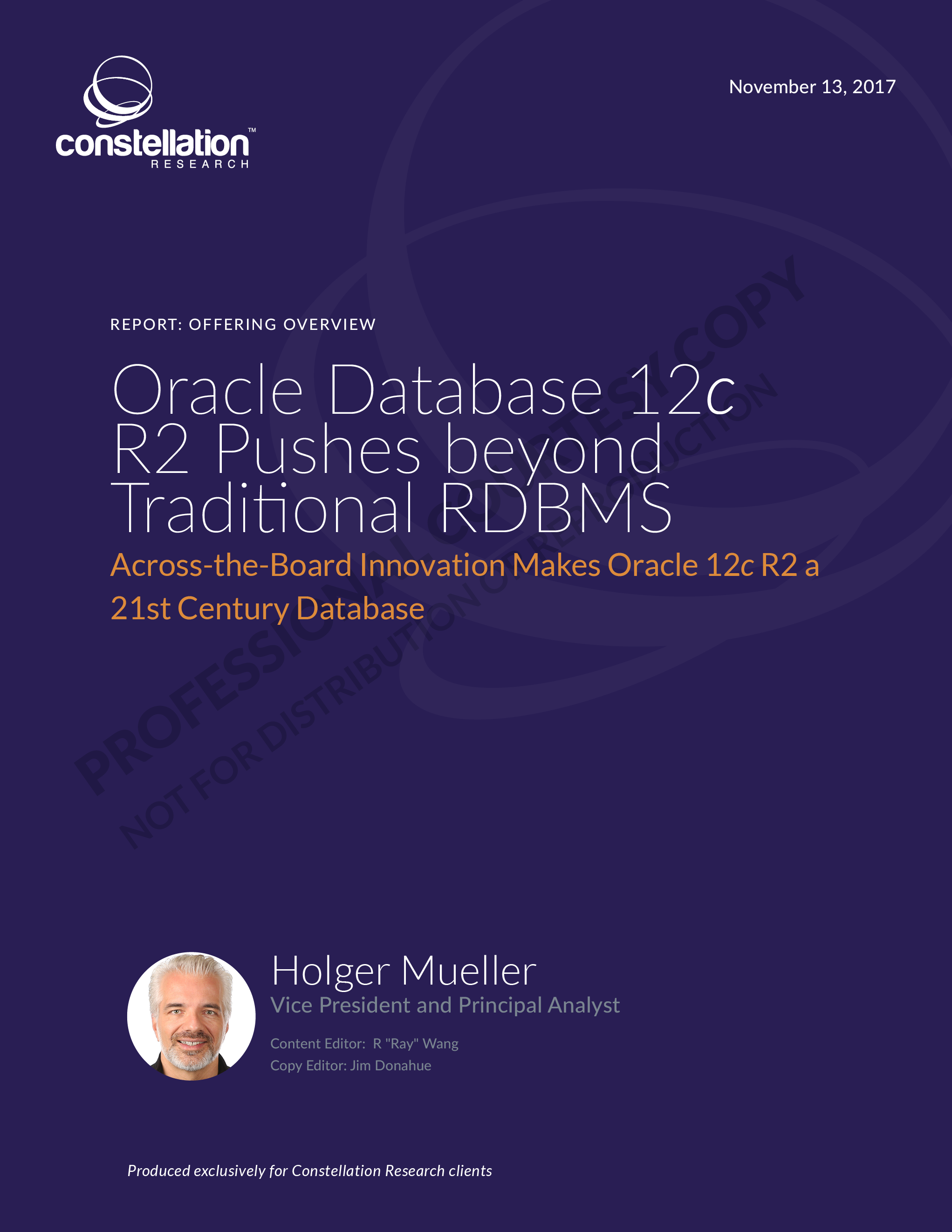 Oracle 12c R2 offering overview