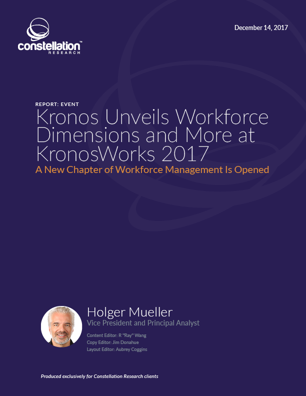 Kronos Unveils Workforce Dimensions and More at KronosWorks