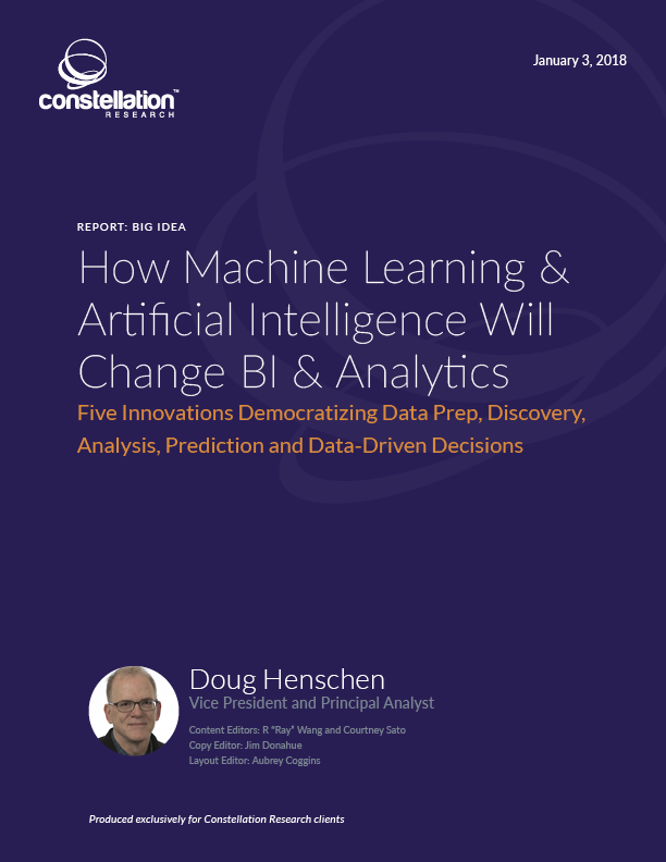 How Machine Learning and AI will Change BI and Analytics