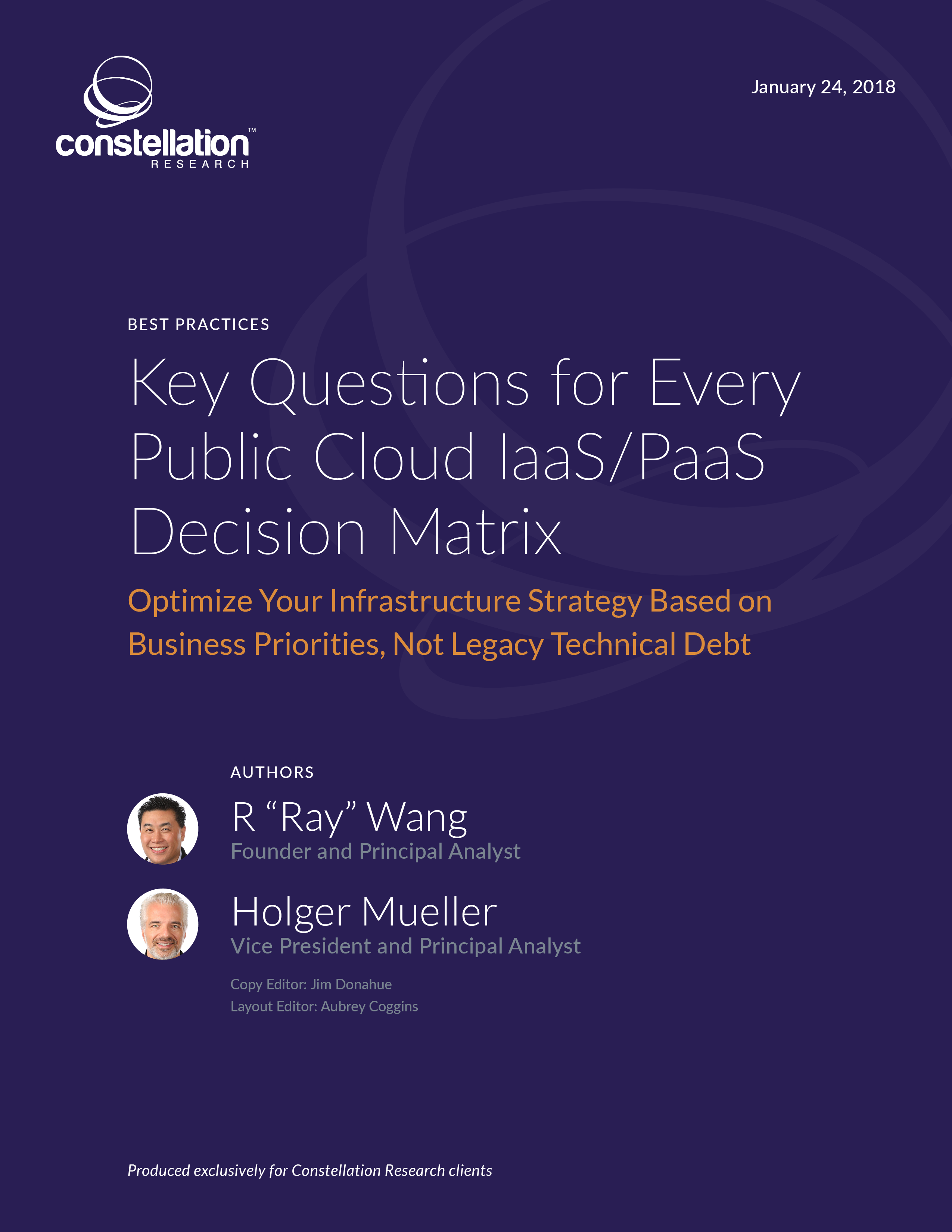 Key Questions for Every Public Cloud IaaS/PaaS Decision