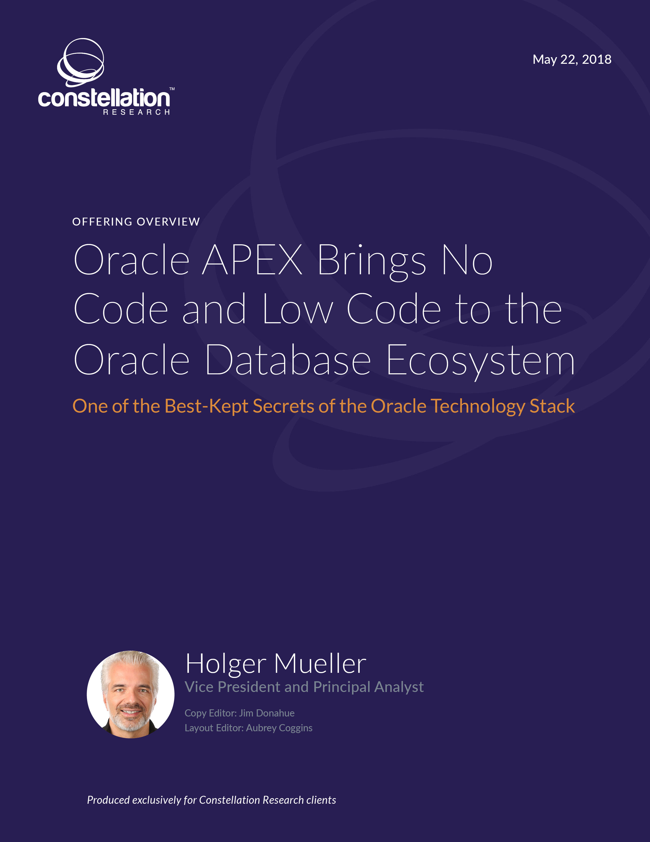 Oracle APEX Offering Overview