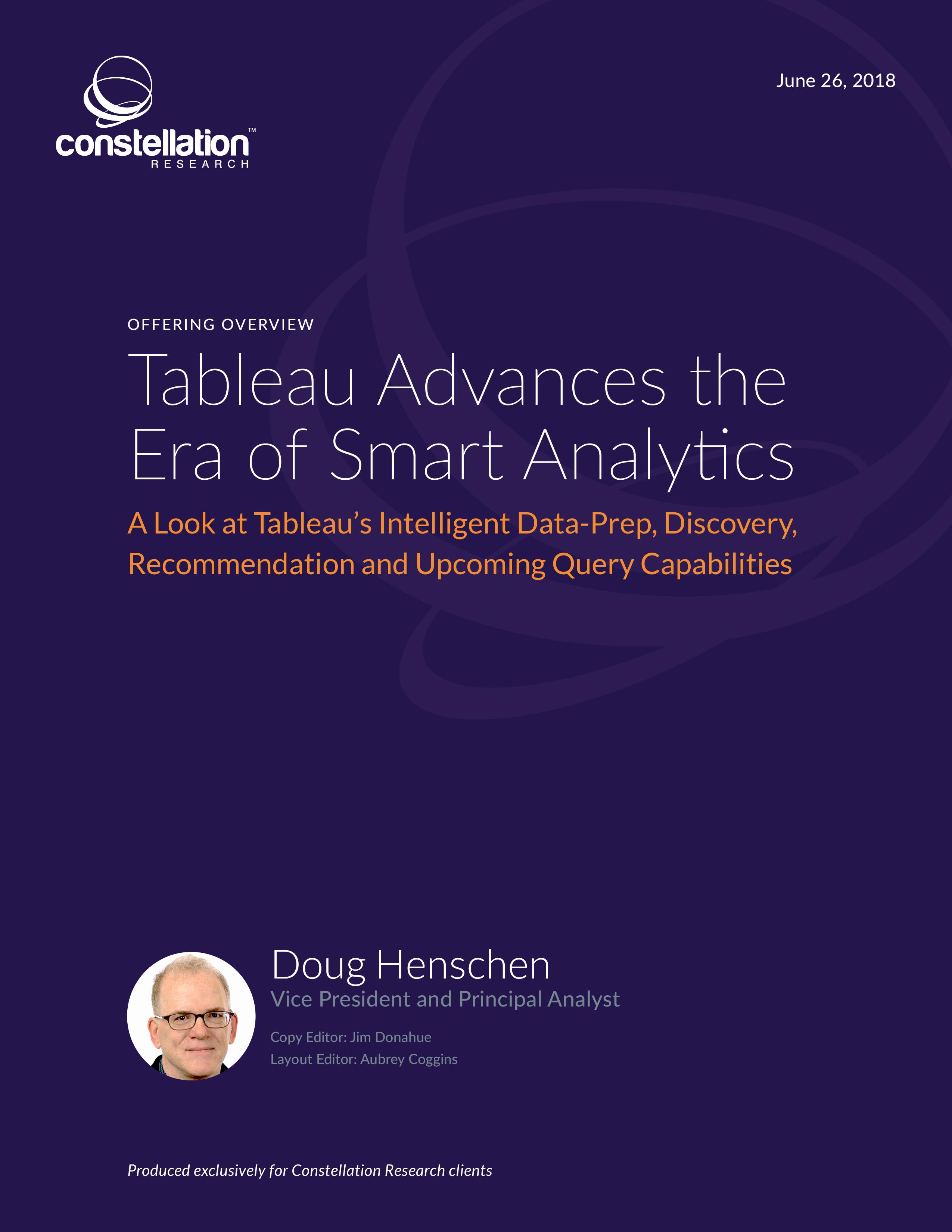 Tableau Advances the Era of Smart Analytics