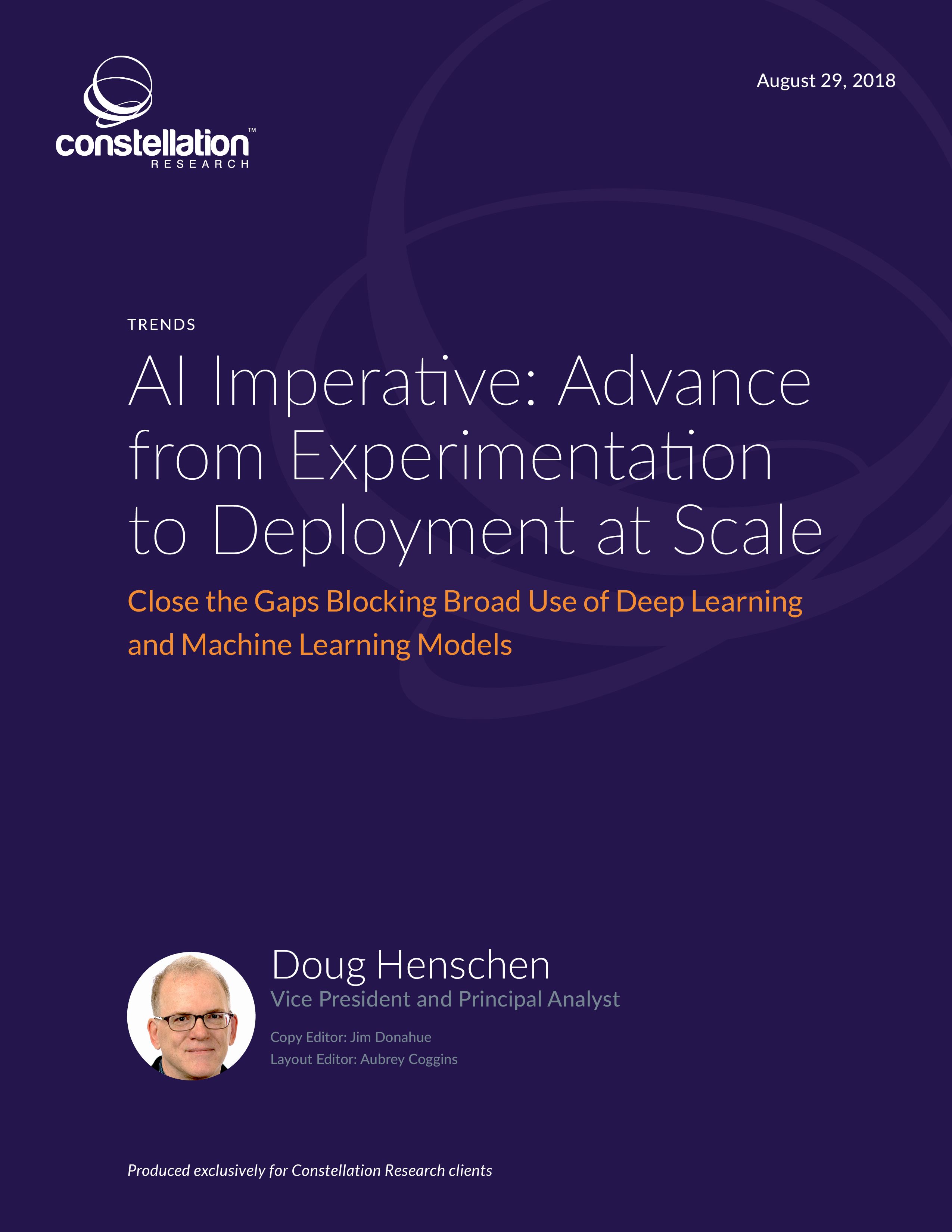AI Imperative: Advance from Experimentation to Deployment at Scale