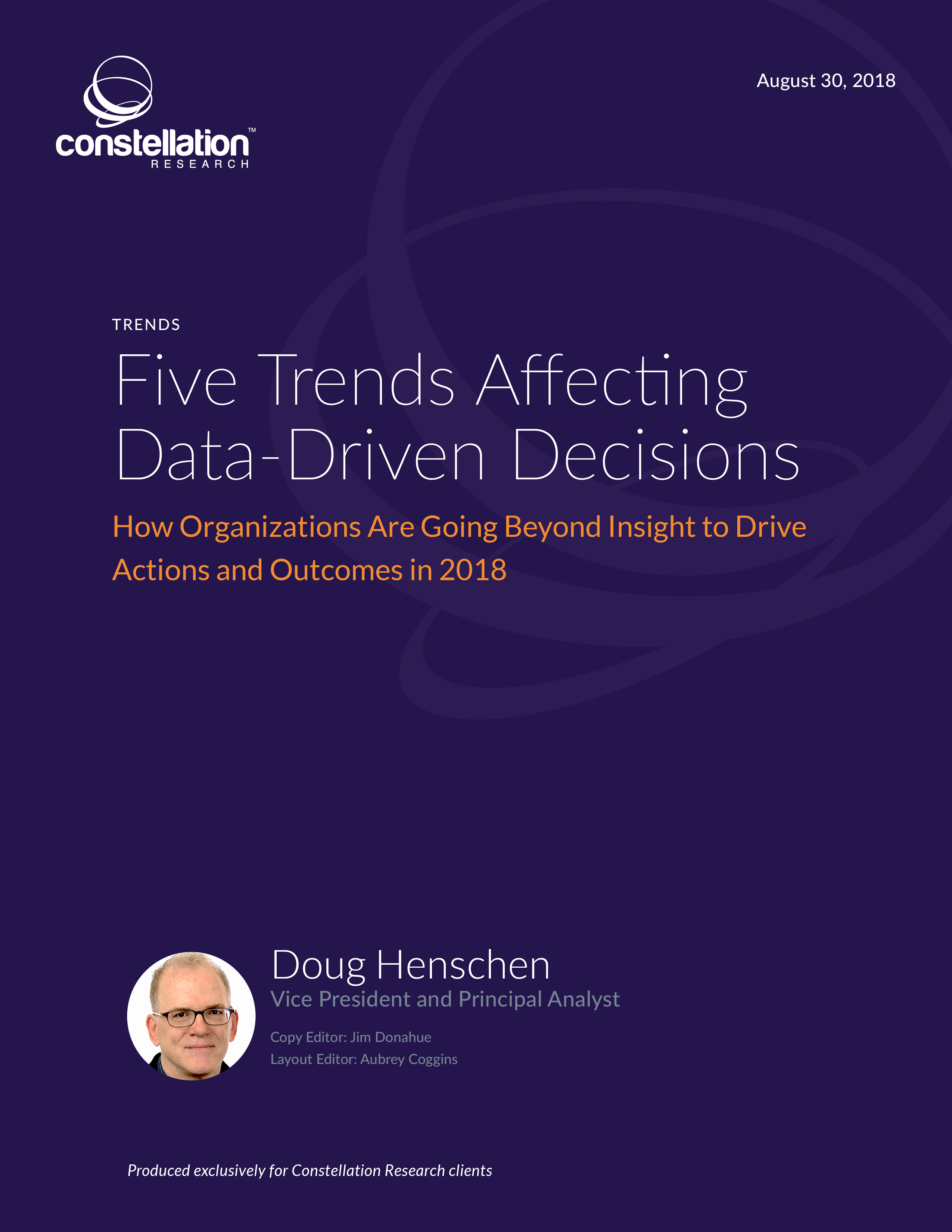 Five Trends Affecting Data-Driven Decisions