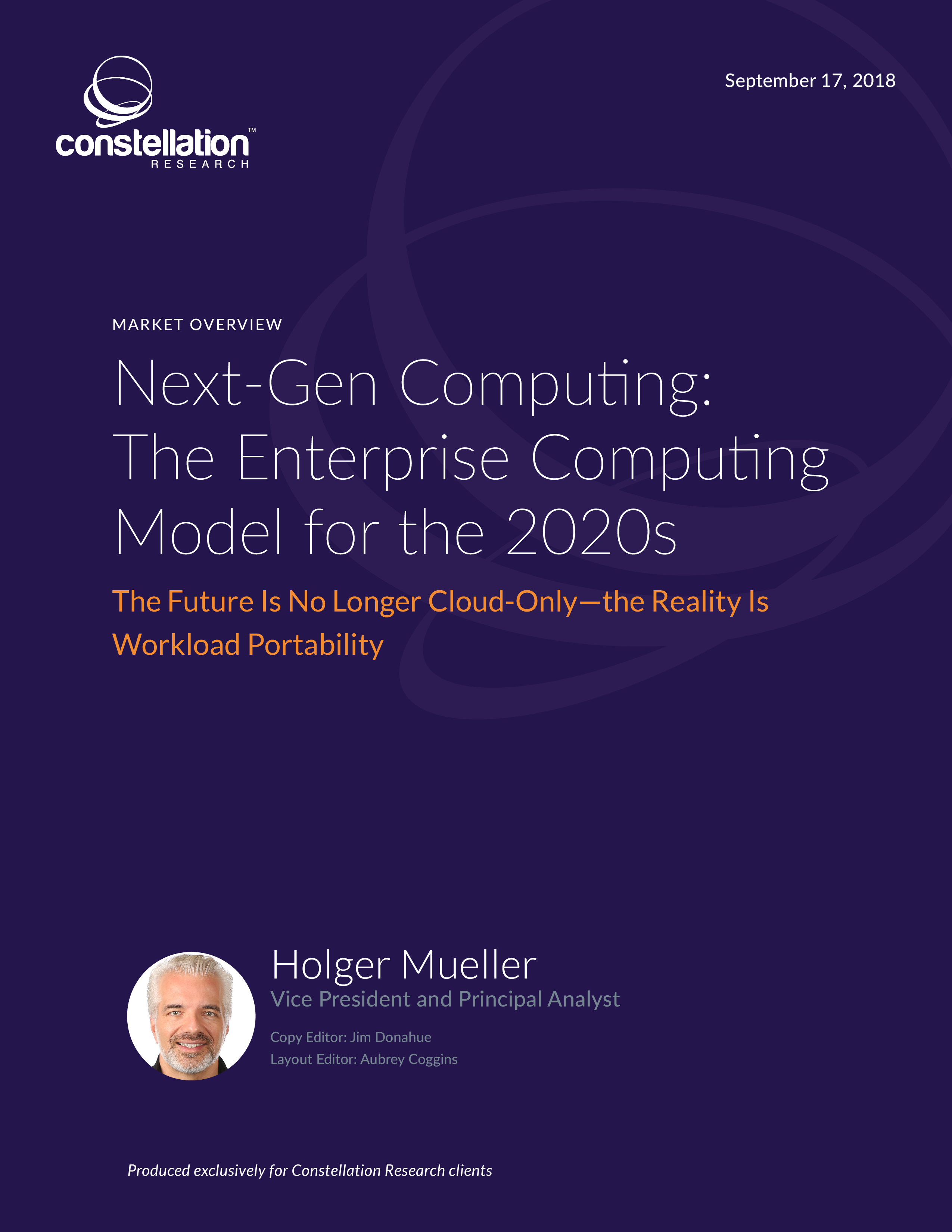 Next Gen Computing the Enterprise Computing Model for the 2020s