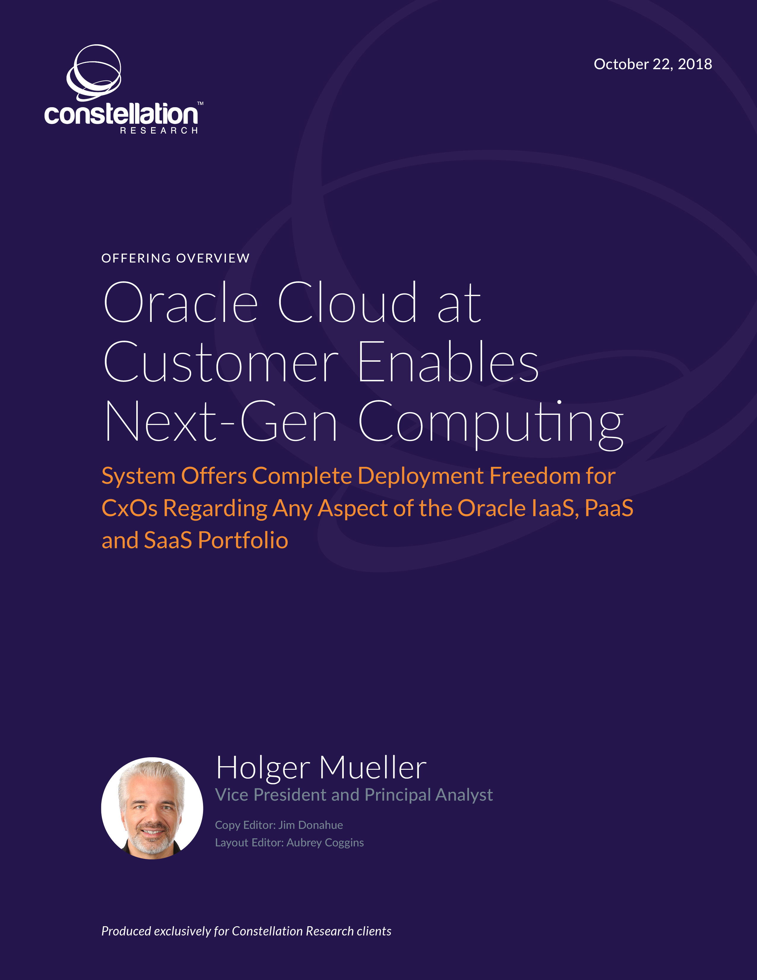 Oracle Cloud at Customer Offering Overview