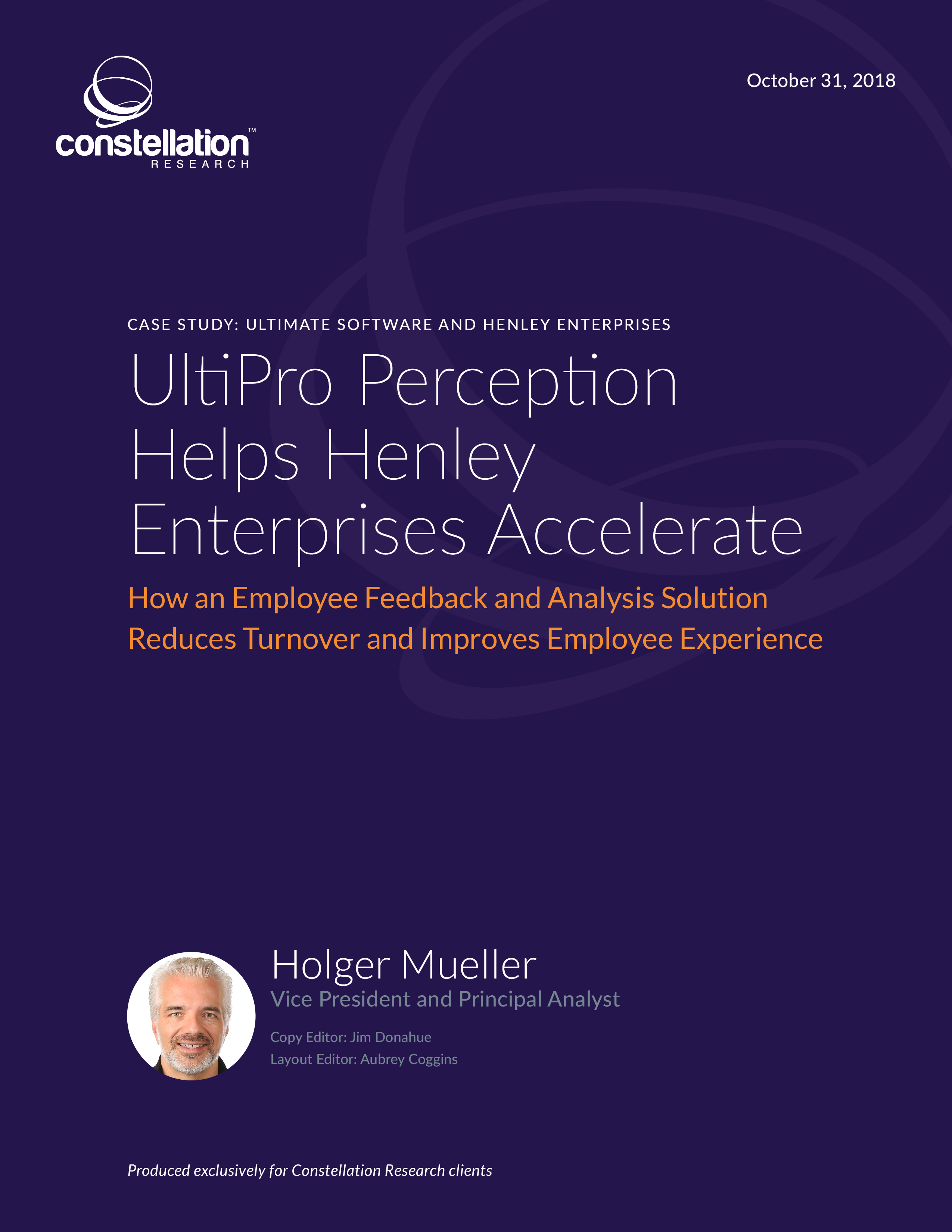 Ultipro Perception Helps Henley Enterprises Accelerate