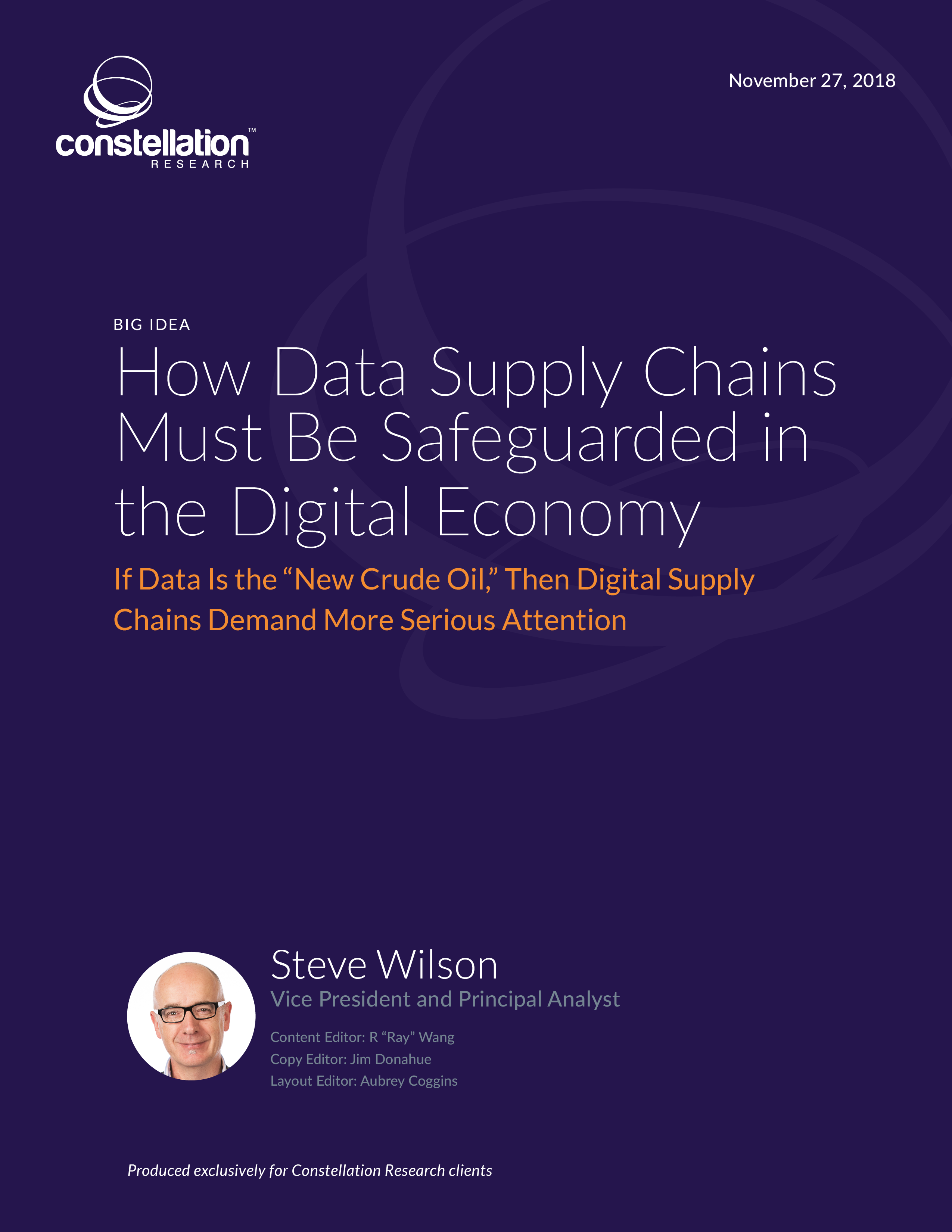How Data Supply Chains Must Be Safeguarded in the Digital Economy