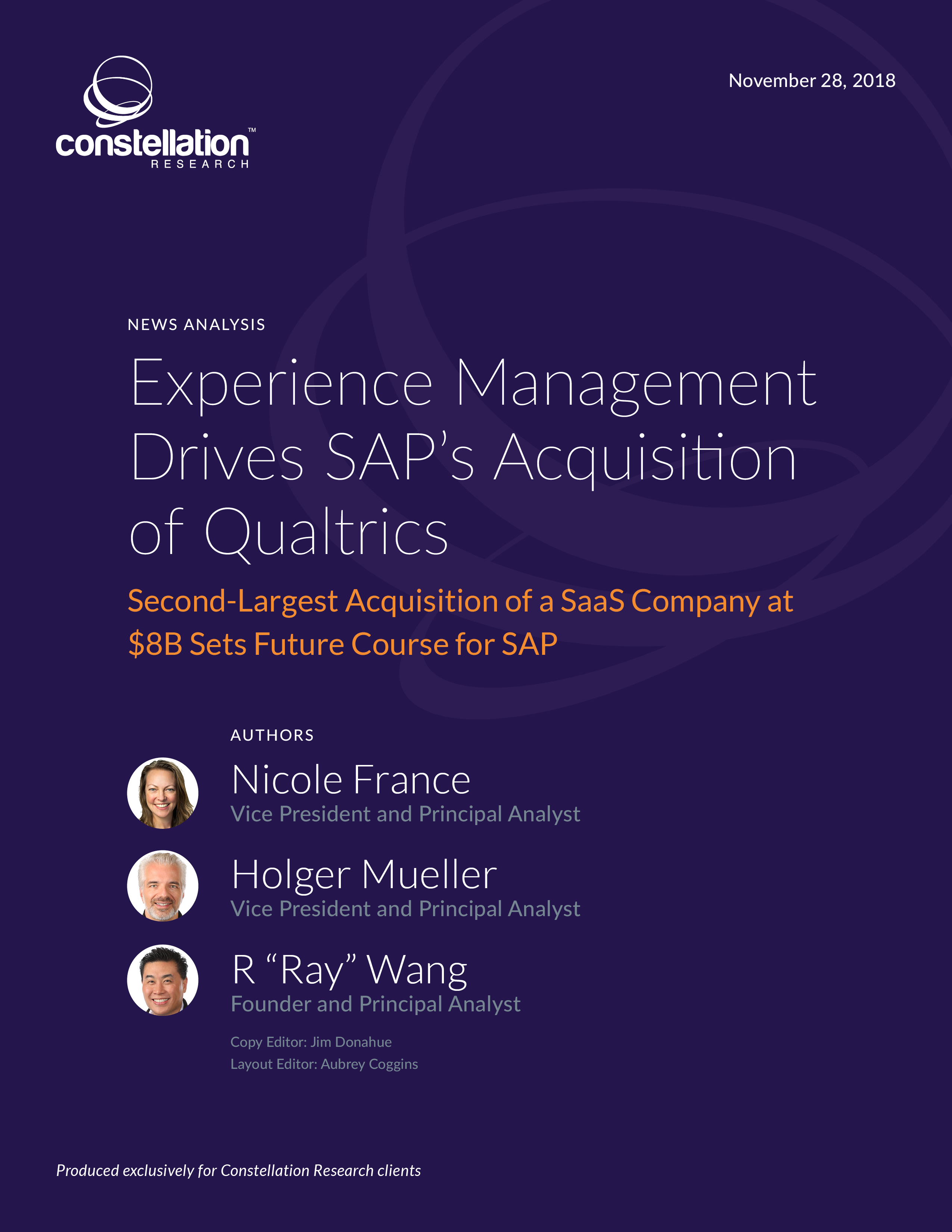 Experience Management Drives SAP's Acquisition of Qualtrics