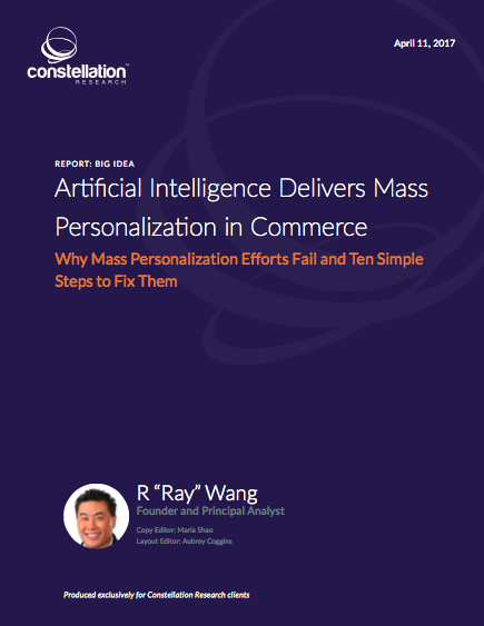 Artificial Intelligence Delivers Mass Personalization in Commerce