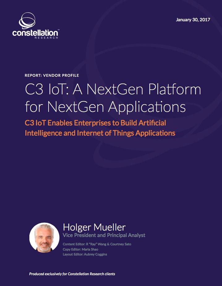 C3 IoT: A NextGen Platform for NextGen Applications