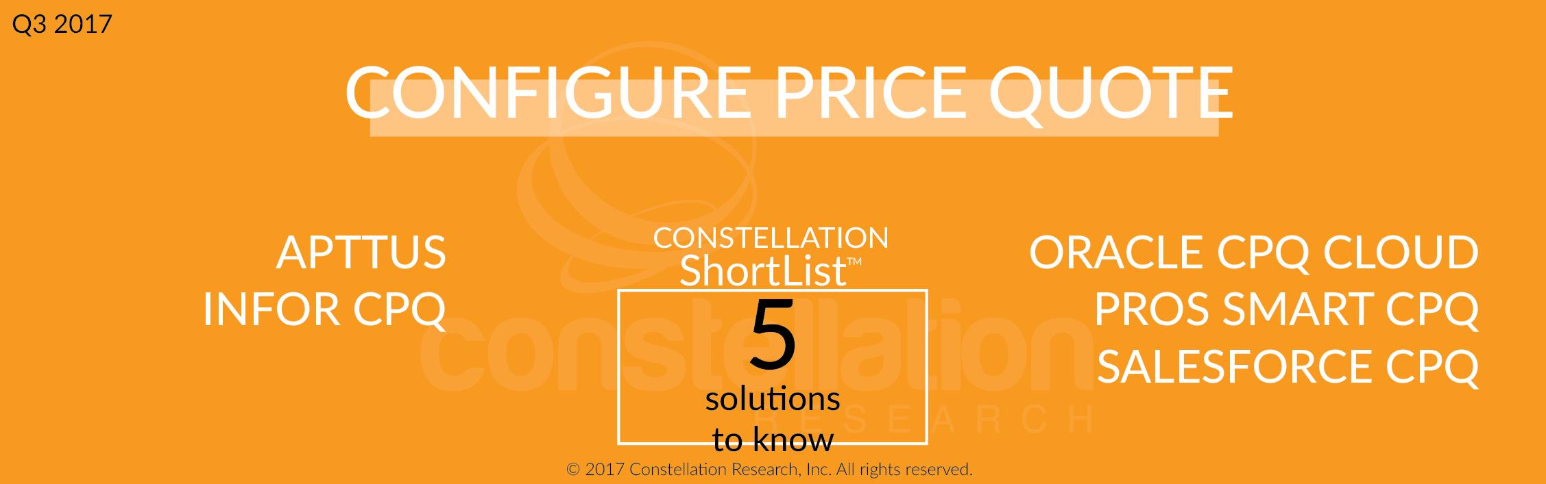 Price Quote Constellation Shortlist™ Configure Price Quote Cpq