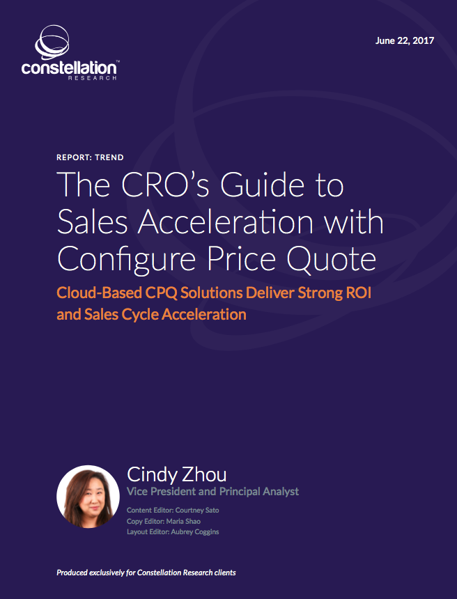 CRO's Guide to Sales Acceleration with Configure Price Quote