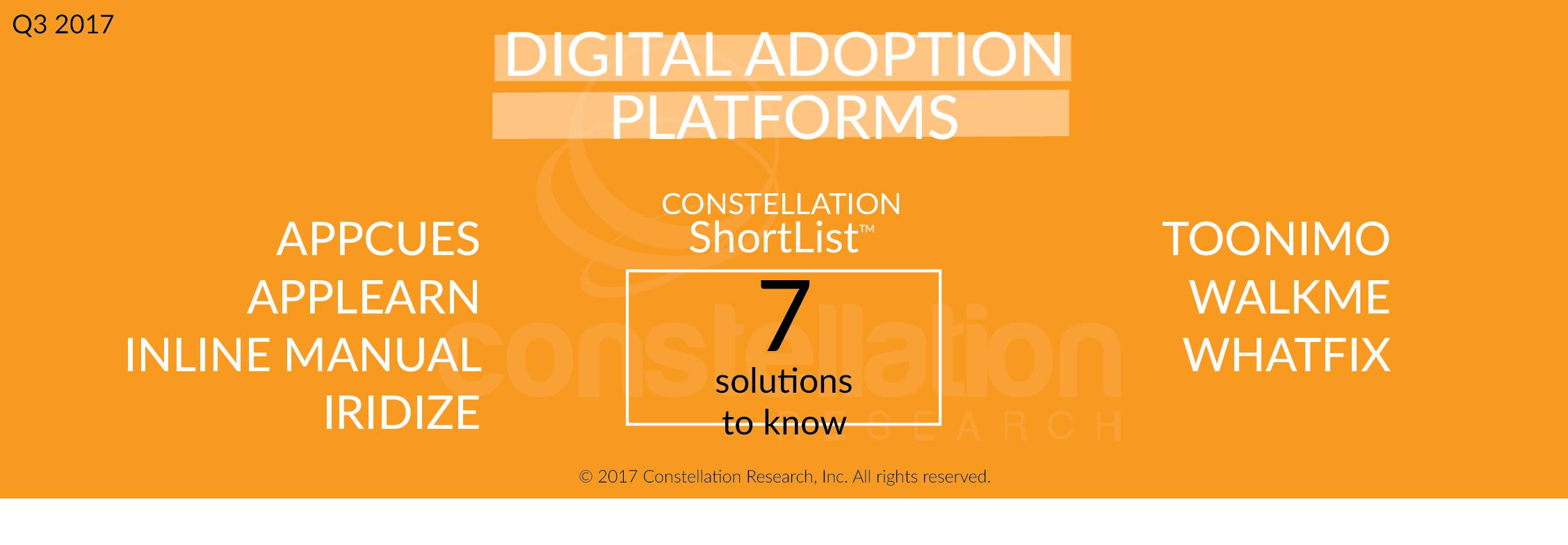 Constellation ShortList Digital Adoption Platforms