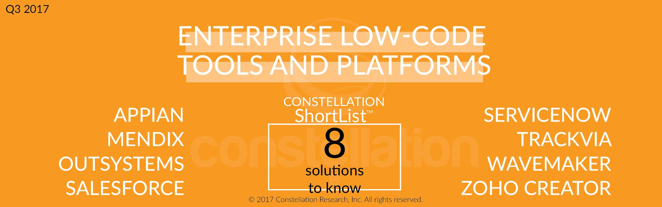 Constellation ShortList Enterprise Low-Code Tools and Platforms