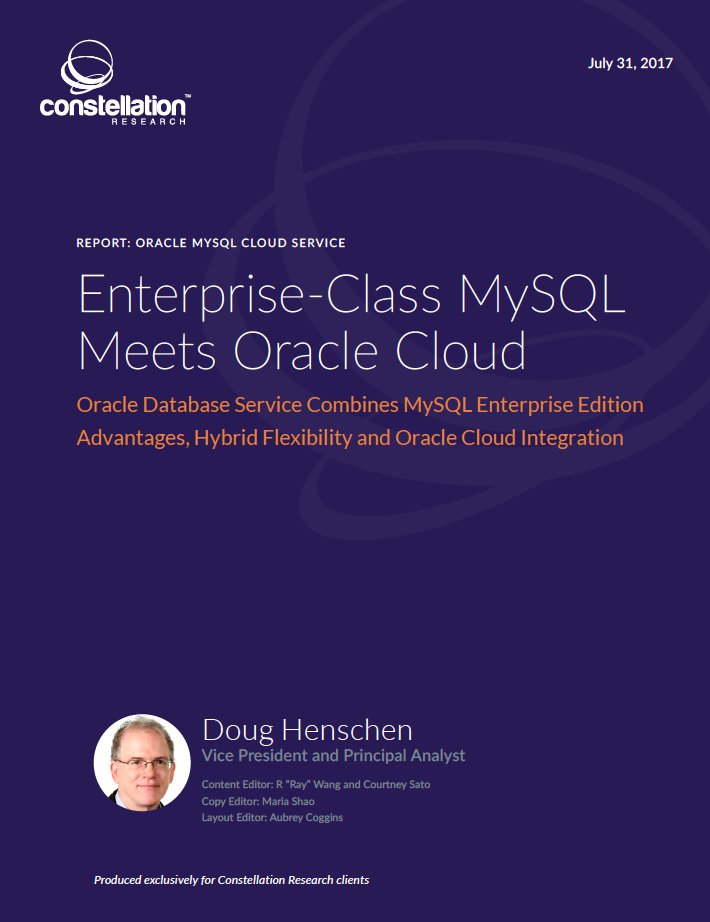 Oracle MySQL Cloud Service Offering Overview