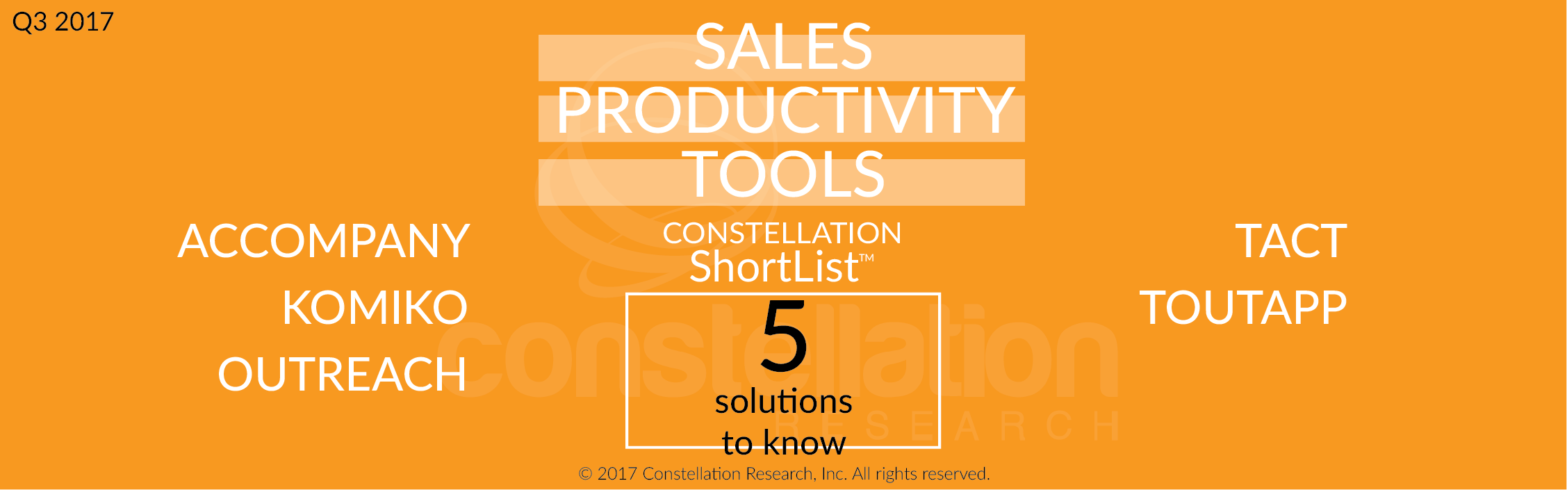 Constellation ShortList Sales Productivity Tools